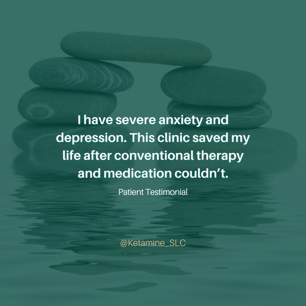 I have severe anxiety and depression. This clinic saved my life after conventional therapy and medication couldn't. (1)