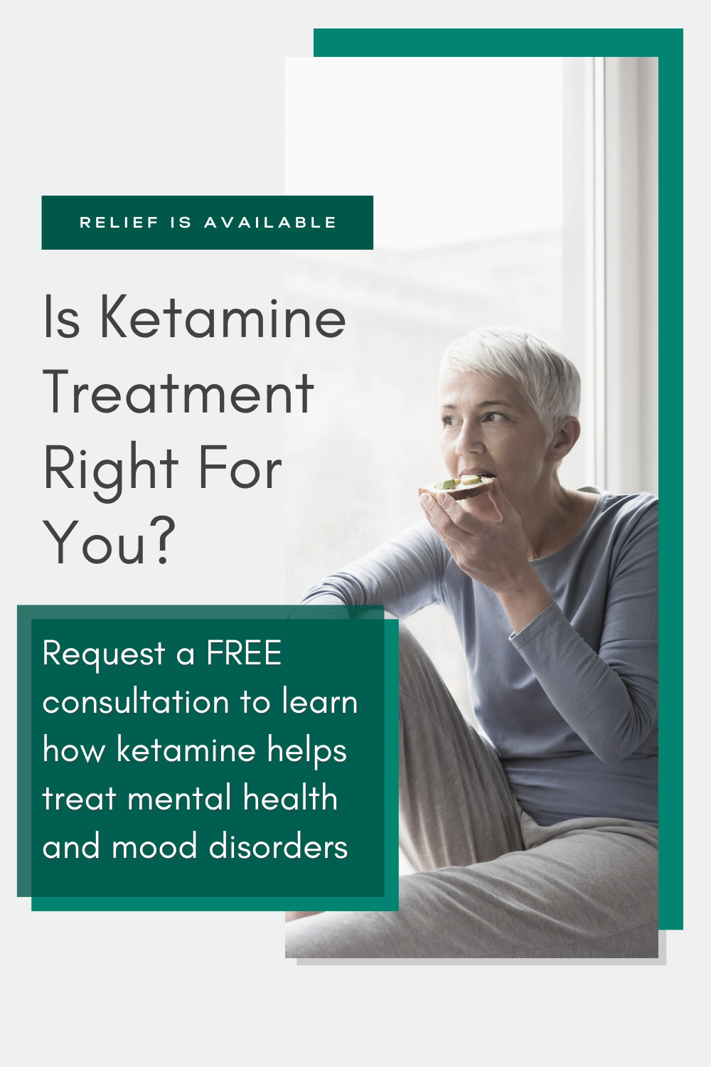 Is ketamine treatment right for you? A free consultation will help you to learn how ketamine helps treat mental health and mood disorders